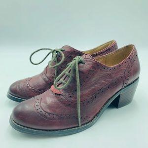 Miz Mooz Norma burgundy oxford dress heels size 7